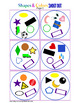 Shapes and Colors Matching Game Shout Out; preschool or fo