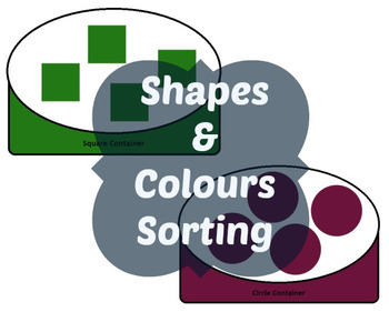 Shapes and Colors/Colours Sorting Activity Printable