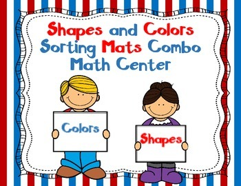 Shapes and Colors Sorting Mats Bundle:  English and Spanish Dual Language Center