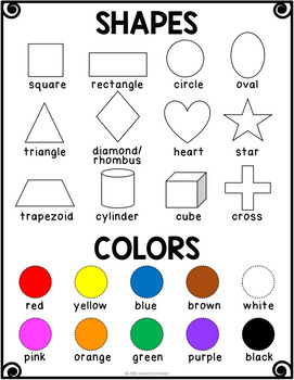 0164dbe9ad0 Shapes and Colors Vocabulary Activities for Beginning ELLs