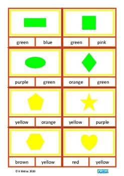 Shapes Colours {UK Spelling} Autism Special Education Speech ESL