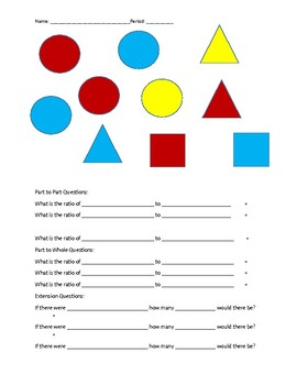 Shapes and Emojis Ratios and Proporatinos Drawing Activity!