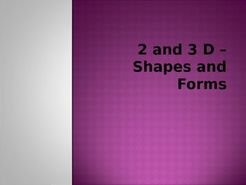 Shapes and Forms Lesson