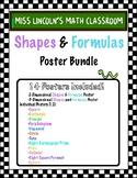 Shapes and Formulas Posters Bundle