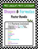 Shapes and Formulas Posters Pack
