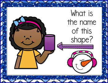 Shapes and Fractions - Snowman Theme