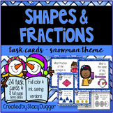 Shapes and Fractions Snowman Theme