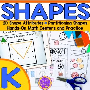 Shapes and Geoboard Math Station - BUNDLE! Kindergarten (KGA1, KGA2, KGA3)
