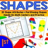 Composing 2D Shapes | Shape Atrributes | Geoboard Task Cards