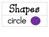 Shapes and Number Words Word Wall and/or Flash Cards
