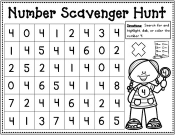 Shapes and Numbers 0-10 Scavenger Hunt
