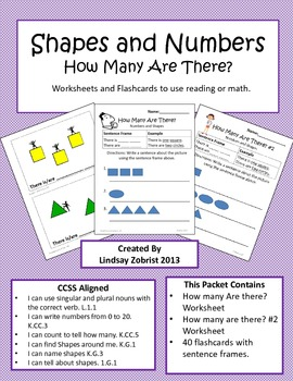 Shapes and Numbers: 1st Grade Common Core Practice Packet