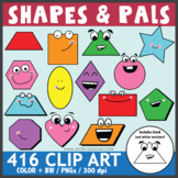 Shapes and Pals Clip Art