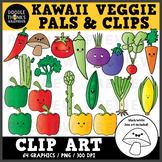 Kawaii Veggies Clip Art