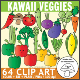 Kawaii Veggies Clip Art