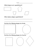 Shapes and Partitioning