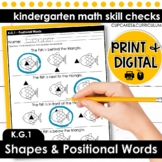 Shapes and Positional Words | Kindergarten Math