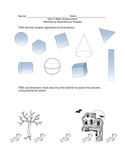 Shapes and Postional words Assessment