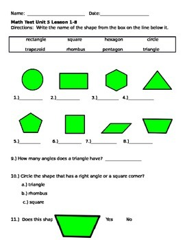 Shapes and Shape Attribute Assessment