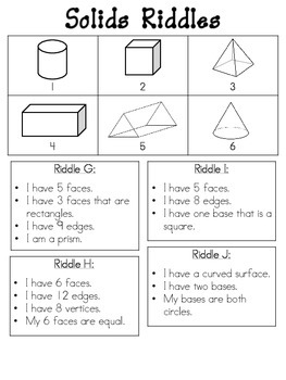 Shapes and Solids Riddles