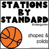 Shapes and Solids Stations Kindergarten
