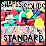 Shapes and Solids Math Stations Kindergarten