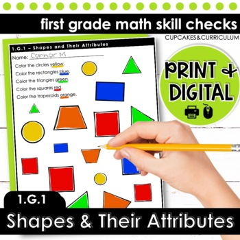 Shapes and Their Attributes - First Grade Print and Go