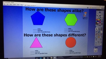 Shapes and Their Attributes Flip Chart