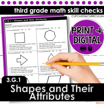 Shapes and Their Attributes - Third Grade Print and Go