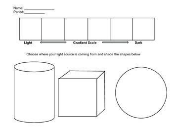 Shapes and Value Worksheet