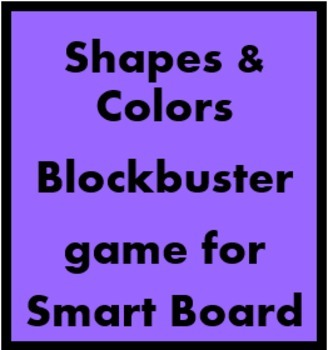 Colors and Shapes Blockbuster game for Smartboard