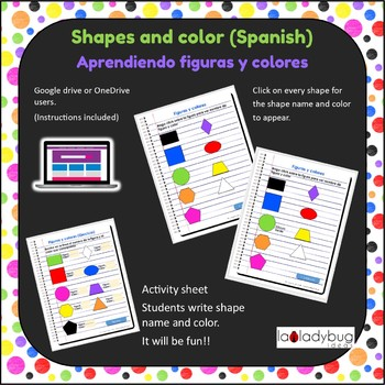Shapes and colors. Spanish. Figuras y colores. Google classroom. Digital.