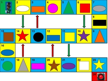 Colors and Shapes Game board PowerPoint version