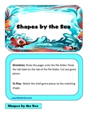 Shapes by the Sea File Folder Game