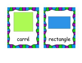 Shapes cards -- Cartes formes géométriques
