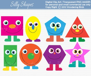 Shapes clip art - set of 8 clip arts