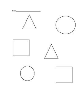 Shapes color sheet