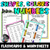 ESL Shapes, Colors & Numbers Flashcards, Worksheets & Activities