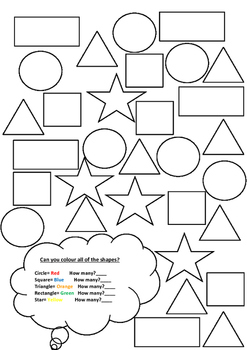 Shapes: colouring and counting