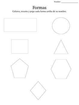 Shapes cut and paste activity