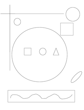 Shapes drawing Partner activity
