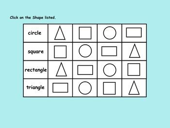 Shapes for Kinder Interactive Smartboard FREEBIE