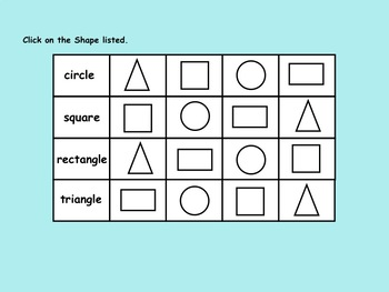 Shapes for Kinder  Interactive Smartboard Lesson and Printables