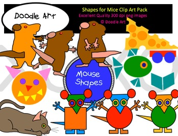 Shapes for Mice Clipart Pack