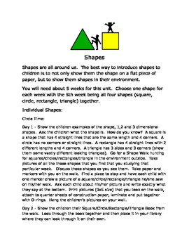 Shapes for Pre-K
