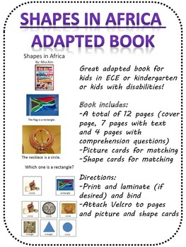 Shapes in Africa adapted book