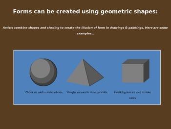 Elements of Art: Shapes Mini-Lesson Powerpoint