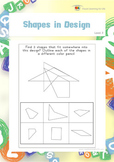 Shapes in Design (Visual Perception Worksheets)