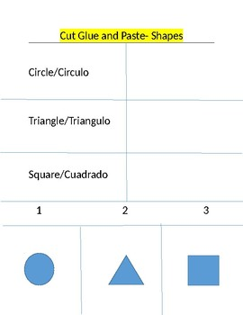 Identify Circle, Triangle, and Square in English and Spanish