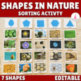Shapes in Nature Sorting Activity Cards